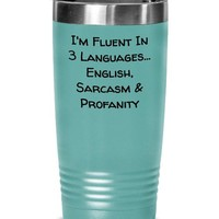 Funny Coffee Tumbler, Tumbler Cup For Men Or Women, Hot Or Cold Stainless Steel Travel Mug, Birthday Gift Idea, Coworker Gift, Boss Gift