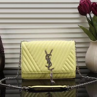 YSL Yves Saint Laurent Women Fashion Leather Chain Satchel Shoulder Bag Crossbody-16