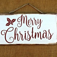Christmas Rustic Sign / Distressed Wooden Sign / Christmas Decor / FREE Shipping