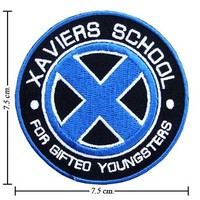 X-Men Xaviers School Logo II Embroidered Iron Patches