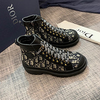 Dior 2021 NEW ARRIVALS Men's And Women's Oblique Canvas Fashion High Top Sneakers Shoes