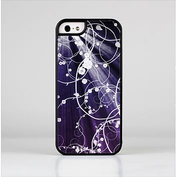 The Dark Purple Light Arrays with Glowing Vines Skin-Sert for the Apple iPhone 5-5s Skin-Sert Case