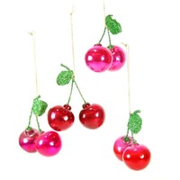 Orchard Cherry Ornaments (Set of 4)