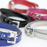 Womens Faux Leather Belts Many colors - JAMES&CO