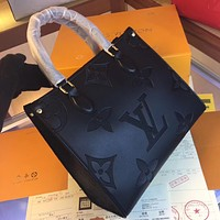 LV Louis Vuitton M44556 Women's Tote Bag Handbag Shopping Leather Tote Crossbody Satchel 30-16-13.5CM