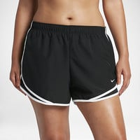 "The Nike Dry Tempo (Plus Size) Women's 3"" Running Shorts."