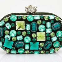 Green Diamond Evening Clutch