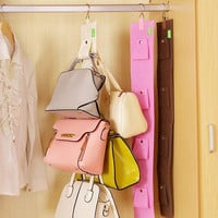 Handbag Organizer Handbag Holder Hook Wardrobe Hook Handbag Collecting Hook Home Storage Holder (5 hook)