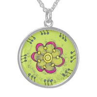 Flower Ring Pendant from Zazzle.com