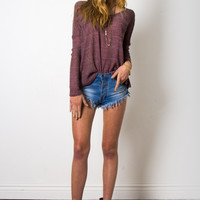 Gab & Kate Sunset Beach Sweater - Purple