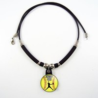 Personalized Softball Pitcher Necklace with Your Name and Number, PERSONALIZE BY EMAIL