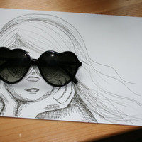 Looking for Love 4x6 sketch print by Cadouxdle on Etsy