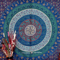 Twin Indian Mandala Tapestry Hippy Wall Hanging Boho Bedspread Decor Table cover