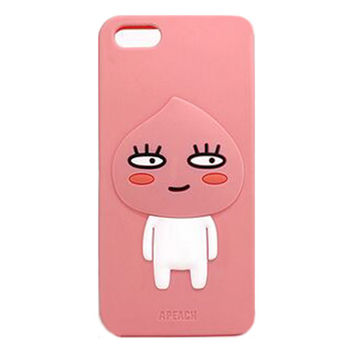2016 Korea Fashion 3D cartoon forest monsters animals rabbit teddy bear dog lion pink peach soft silicone case cover For Iphone