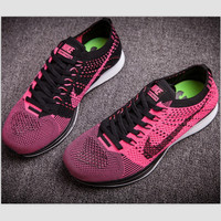 """""""NIKE"""" Net surface breathable sneaker soft-soled running casual shoes Roses"""