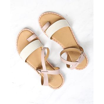 COCONUTS By Matisse - Sundown Wrap Leather Flat Sandal in Pink