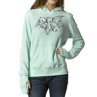 Fox Racing Girls Mastermind Hoody Pullover Sweatshirt, Mint, Medium