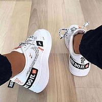 Nike Air Force 1 AF1 Just Do It JDI Trending Women Men Leisure Sport Shoes Sneakers
