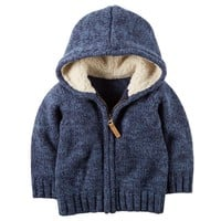 Carter's Marled Knit Hoodie - Baby Boy, Size: