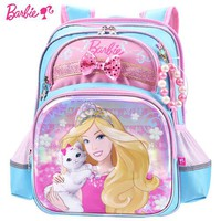 School Backpack Barbie cartoon kids/children Lightweight Orthopedic/ergonomic school bag books backpack portfolio for Grils grade 1-3 AT_48_3