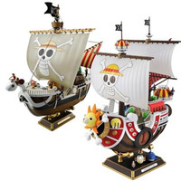 Anime One Piece Thousand Sunny Going Merry Pirate Ship Assemble Model Retail Box PVC Boat Action Figure Kids Collectible Toy Alternative Measures
