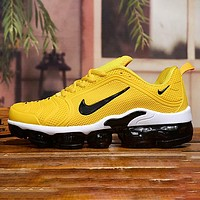 NIKE AIR VAPORMAX PLUS New fashion hook print men shoes Yellow