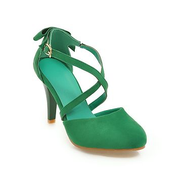 Strappy Bow High Heels Sandals Summer Shoes 4219