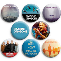 Imagine Dragons Pinback Buttons Badge 1.25 inches (Set of 8) NEW