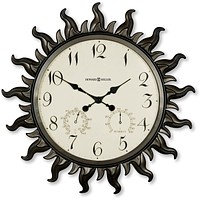 "23""H Sunburst II Wall Clock Metal with Powder Coated Case"