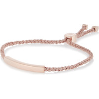 Monica Vinader - Linear rose gold-plated bracelet