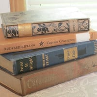 Holiday2014ETFS  VIntage Books 4 in a lot Kipling, Knight, and Michener Books 4 in a lot offered by treasuresRtimeless   Holiday2014