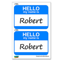 Robert Hello My Name Is - Sheet of 2 Stickers