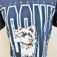 Vintage Wolf Teen Wolves University T-Shirt Large