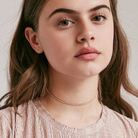 Cami Delicate Rhinestone Choker Necklace | Urban Outfitters