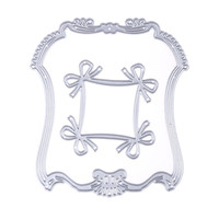 Stencil Bowknot Lace Pattern Emboss Cutting Dies Stencil Decorative Embossing Craft For Scrapbooking DIY Paper Card Album