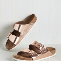 Strappy Camper Sandal in Rose Gold