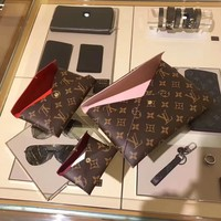 LV Louis Vuitton classic print women's clutch bag Messenger bag three-piece