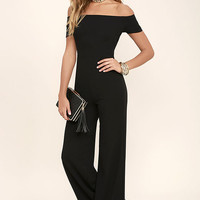 Alleyoop Black Off-the-Shoulder Jumpsuit