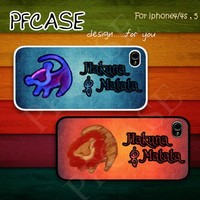 Lion king Cartoon twin cases : Case For Iphone 4/4s ,5 /Samsung S2,3,4
