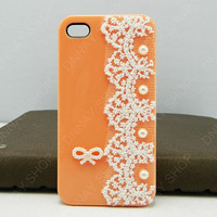 iphone 5 case  Lace case Pearl  Butterfly case  iphone 4 case iphone 4s case 3D iphone 5 cases