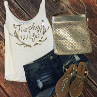 Trophy Wife Tank: Gold