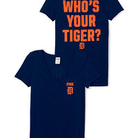Detroit Tigers V-Neck Tee - PINK - Victoria's Secret