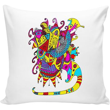 Neon Masquerade Couch Pillow