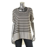 Style & Co. Womens Hi-Low Striped Tunic Top