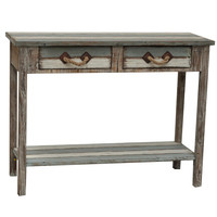 Crestview Nantucket 2 Drawer Weathered Wood Console - CVFZR696
