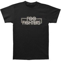 Foo Fighters Men's  Outlined Logo Mens Soft T Slim Fit T-shirt Coal