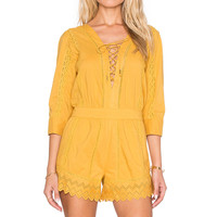 Tularosa Balboa Playsuit in Marigold