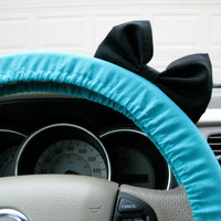 You Choose Colorblock Steering Wheel Cover with Matching Bow