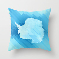 Antarctica Throw Pillow by Deniz Erçelebi