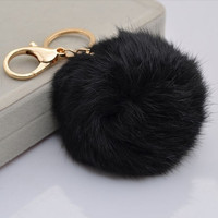 New Fashion Soft Rabbit Fur Ball Handbag Key Chain Cell Phone Car Pendant 1pcs = 1932790020